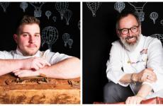 Matteo Metullio e Norbert Niederkofler, chef di due ristoranti d'hotel che sono gemme in val Badia, La Siriola del Ciasa Salares e il St. Hubertus del Rosa Alpina