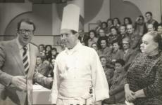 Giorgio Giocoin tv nel 1976, «era invitato a raccontare come preparare l'omelette alla trasmissione A tavola alle 7, una sorta di Non è mai troppo tardi culinario», ci spiega il figlio Antonio. Con Giorgio eranoLuigi Veronelli e Ave Ninchi