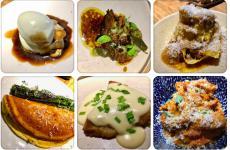 Un collage di piatti dal nuovo corso di Marzapane, Roma, il locale di Mario Sansone. Coordina la cucina Francesco Capuzzo Dolcetta, 26 anni