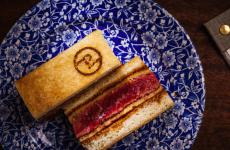 The sandwich from the guys at Pedegrú in Madrid, inspired by Japanese katsu sando. The establishment, founded by 3 guys who trained at Mugaritz is one of the most interesting culinary news in Madrid (photo www.pedegru.es)