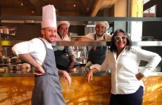 Alessandro Montanari, Chiara Orrù, Nello Barbieri e Sandra Ciciriello, soci (tutti operativi) del neonato142 restaurant,Milano