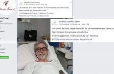 Il post su Facebook con il quale Vittorio Fusari dava notizia del suo ricovero, il 16 dicembre scorso. Scriveva: Cari amici del web, state tranquilli, mi sto rinnovando per l'anno nuovo! Ogni intoppo è una nuova opportunità! Vi terrò aggiornati, intanto vi saluto con il sorriso!#2020anoidue#vittoriofusari#opportunità