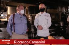 Riccardo Camanini with Paolo Marchi in a screenshot from the masterclass of the first Identità on the road, filmed at Lido 84 in Gardone Riviera (Brescia). CLICK HERE TO REGISTER AND VIEW IDENTITÀ ON THE ROAD. For info write to iscrizioni@identitagolose.it or call +39 02 48011841 ext. 2215