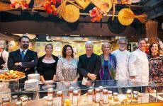Da sinistra a destra: Matteo Baù, Barbara Zanini, Silvia Tropea Montagnosi, Iginio Massari, Roberta Garibaldi, Vittorio Fusari, Chicco Cerea e Lisa Casali