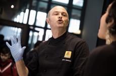 Marco Farabegoli, anima della pizzeria al taglio Da Neo a Gambettola, vicino a Cesena. È uno dei Petra Selected Partners