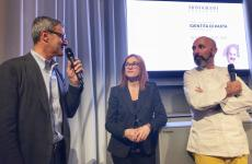 Da sinistra: Riccardo Felicetti, Eleonora Cozzella, Andrea Ribaldone