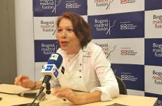 Leonor Espinosa, Colombian chef originally from Cartagena, during the press conference at Bogotà Madrid Fusion