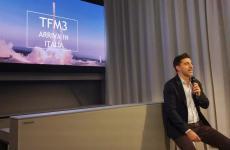 Almir Ambeskovic presenta a una platea di ristoratori, giornalisti e operatori del settoreil nuovo software di TheFork