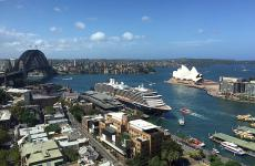 The very famous bay of Sydney as seen from the top floors of the Four Seasons. The Canadian group has directed the 5-star luxury hotel since 1992 but only since ten years later, in 2002, under its brand.