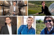 Dall'alto a sinistra, i protagonisti di questa nostra intervista: Pietro Mastroberardino, Roberta Ceretto, Michele Faro, Francesco Ricasoli, Tobias Zingerle