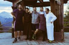 Five of the chefs who participated in Cook the Mountain a few days ago: Giorgio Ravelli, Rodolfo Guzman, Norbert Niederkofler, Ivan Milani and Giancarlo Morelli. Story (and photos) by Lisa Casali for Identità Golose