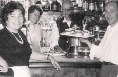 Una foto storica di Amerigo, immarcescibile indirizzo sui colli bolognesi, che ha saputo rinnovarsi nel segno di una nuova tradizione