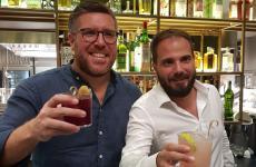 Vittorio e Saverio Borgia brindano alla nuova apertura milanese